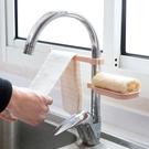 免打孔水龍頭瀝水置物架 水槽海綿抹布瀝水...