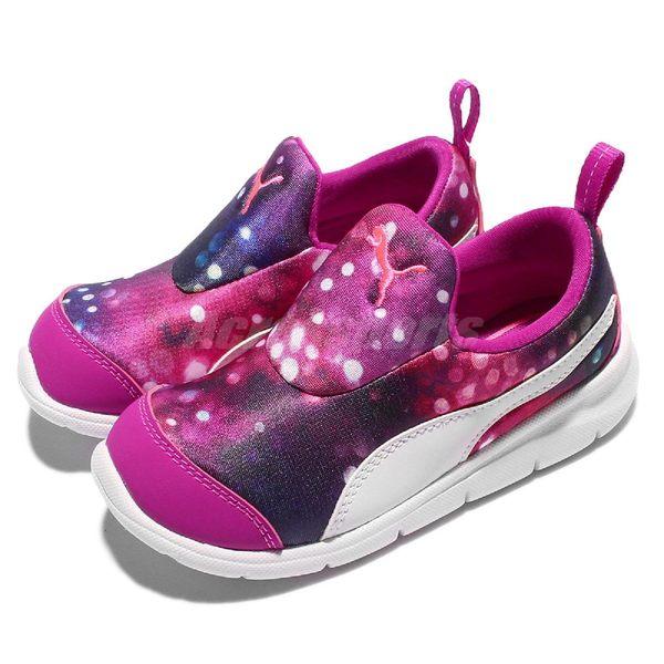 Puma 慢跑鞋 Bao 3 Lights Inf 紫 白 桃紅 無鞋帶設計 童鞋【PUMP306】 18976302