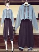 大碼套裝大碼女裝新款寬松遮肉顯瘦衛衣胖妹妹減齡洋氣顯瘦兩件套裝 麥吉良品YYS