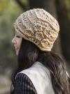 帽子女秋冬韓版潮鏤空鉤花女士冬季花朵包頭帽春秋頭巾毛線針織帽 618狂歡