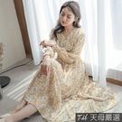 【天母嚴選】清新碎花雪紡洋裝(共三色)