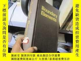二手書博民逛書店7645罕見精裝的 1030頁 BOUNDARY ELEMENT