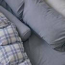 長絨棉 床包被套組(薄被套) 單人【藍莓格格 x 淺藍灰】色織雙層紗 自由混搭 翔仔居家