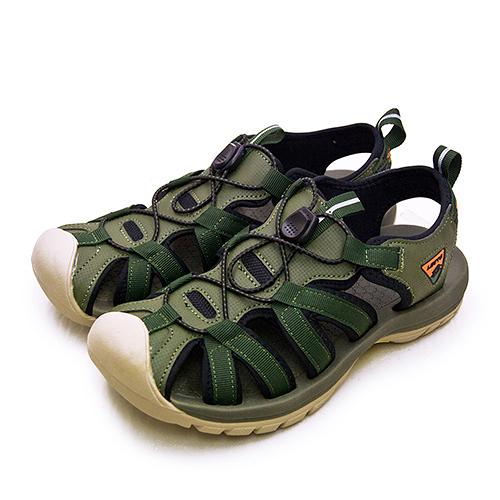 LIKA夢 LOTTO 專業護趾戶外運動涼鞋 冒險者系列 軍綠棕 1925 男