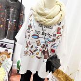 親膚棉 印花寬鬆版T桖上衣-多尺碼 獨具衣格
