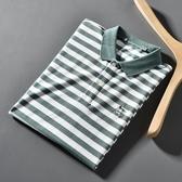 小清新 色織條紋 外貿工廠剪標尾貨春季新品休閒短袖T恤男polo衫 美芭