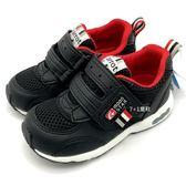《7+1童鞋》中童 日本月星MOONSTAR 輕量透氣 運動鞋 機能鞋 C456 黑色