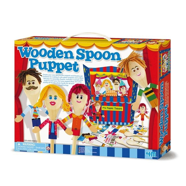 【4M】04558 美勞創意-湯匙木偶劇團 Wooden Spoon Puppet