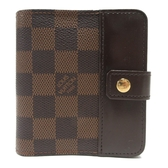 LOUIS VUITTON LV 路易威登 棋盤格釦式短夾 Compact Zip N61668 【BRAND OFF】