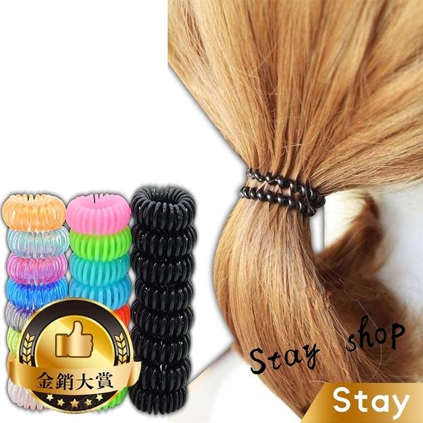 【Stay】不傷髮不打結電話線髮圈 髮圈 電話線髮圈【N11】