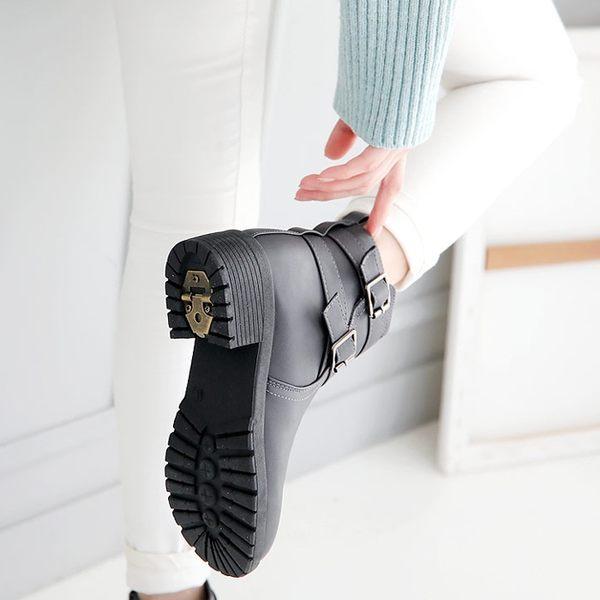 韓國直送毛皮襯裡冰爪防滑短靴