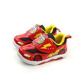 閃電麥坤 Cars 迪士尼 Disney 運動鞋 魔鬼氈 紅色 中童 D217013 no075