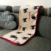 日系可愛法萊絨毛毯休閑毯寶寶蓋毯辦公室膝蓋毯子【小酒窩服飾】