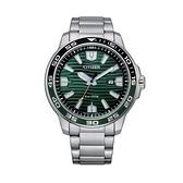 【Citizen星辰】GENT'S光動能海洋波紋型時尚腕錶-湖水綠/AW1526-89X/台灣總代理公司貨享兩年保固