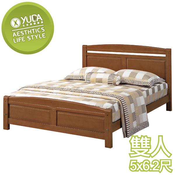 【YUDA】安麗 實木 鐵杉 5尺 雙人 床架/床底/床檯 J0S 71-2