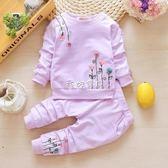 女童长袖套装 女寶寶洋氣套裝兒童秋季長袖衣服女童秋裝嬰兒純棉兩件套1-3周歲2 珍妮寶貝