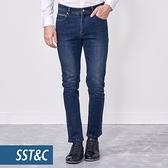 SST&C 男裝 藍色合身牛仔褲 | 1212010007