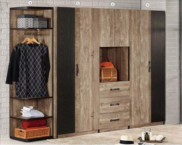 【新北大】✪ B011-4 (3)格雷森2.6尺單吊衣櫥(單櫃)-18購