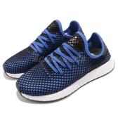 【六折特賣】adidas 休閒慢跑鞋 Deerupt Runner 黑 藍 網格設計 舒適中底 男鞋 運動鞋【PUMP306】 B41764
