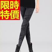 女牛仔褲保暖加絨-伸縮修身顯瘦微彈力女長褲子4款63e23[巴黎精品]
