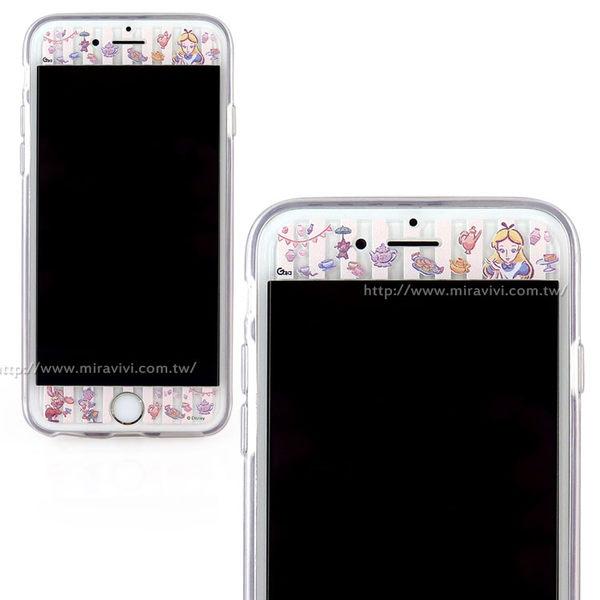 【Disney 】iPhone 6 Plus/6s Plus 9H強化玻璃彩繪保護貼-愛麗絲