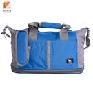 【Cougar】可加大 可掛行李箱 旅行袋/手提袋/側背袋(7037水藍色)【威奇包仔通】