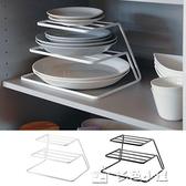 分隔板廚房雙層碟子架櫥柜內分層架碗碟餐盤分隔板盤子收納架碗架瀝 多色小屋YXS