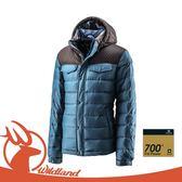【Wildland 荒野 男 輕量四層700FP羽絨衣《藍綠》】0A22102/羽絨夾克/羽絨雪衣羽絨衣/爬山健行