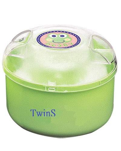 DOOBY大眼蛙 粉撲盒(大)D-4423【遠紅外線加工處理】