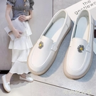 鞋子女2020春季新款護士鞋女軟底透氣不累腳防臭舒適小白鞋豆豆鞋「時尚彩紅屋」