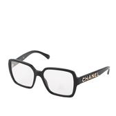 【CHANEL】方型平光造型眼鏡(黑色) CH5408 C6221W