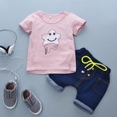 全館83折 童裝 2018新款  男 女寶寶 兒童套裝短袖短褲2件套1-4歲童裝夏潮