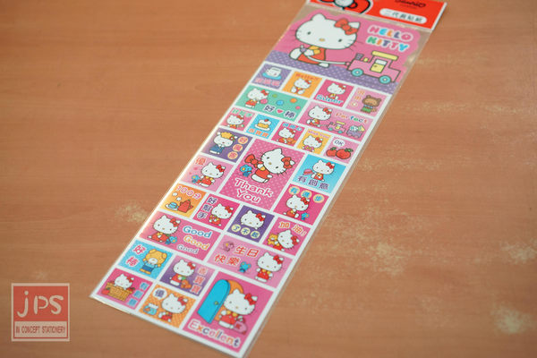 Hello Kitty 二代長貼紙 (火車)