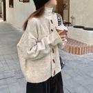 針織毛衣 長袖毛衣 秋冬外套慵懶風溫柔寬松百搭針織衫外套H5F-501.依品國際