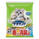 日本Unicharm嬌聯 消臭大師礦砂貓砂-皂香5L