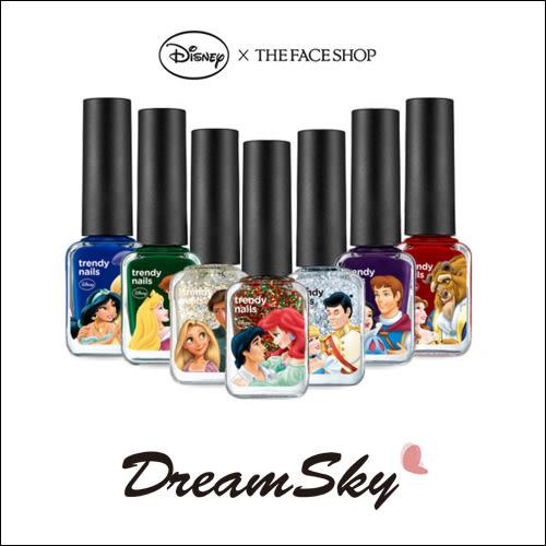 【即期品】韓國 THE FACE SHOP X Disney 迪士尼 聯名 公主 王子 指甲油 (7ml/罐) DreamSky