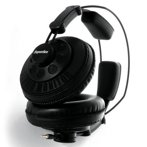 舒伯樂 SuperLux HD668B, 半封閉式全罩監聽耳機,可更換耳機線,公司貨保固一年