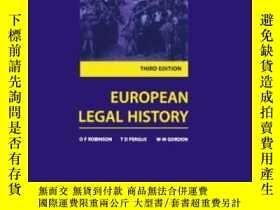 二手書博民逛書店European罕見Legal HistoryY256260 O. F. Robinson Oxford Un