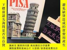 二手書博民逛書店PISA:Art罕見and History Map of the Town(英文原版)比薩:城鎮的藝術和歷史地圖奇