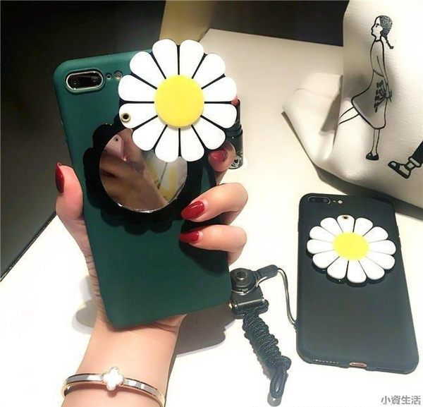 蘋果手機殼 蘋果手機保護套 i6/6s/i6plus/i6splus/i7/i7plus APPLE保護殼 清新小菊花