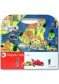 比利時 Egmont Toys 艾格蒙繪本風遊戲磁貼書:車車方城