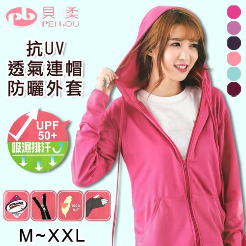 3M 吸濕排汗 UPF50+ 指洞設計 抗UV 透氣 防曬 連帽外套 台灣製 貝柔 PB
