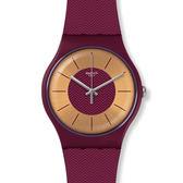 Swatch  成熟紫金耀眼石英腕錶   SUOR110