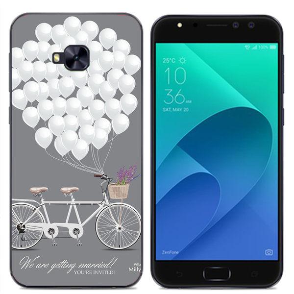 ✿ 3C膜露露 ✿ ZenFone 4 Selfie Pro (ZD552KL) {白色氣球*空壓軟殼} 手機殼 手機套 保護殼