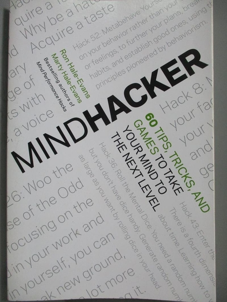 【書寶二手書T6/心理_ZDK】Mindhacker-60 Tips, Tricks, and Games to Tak
