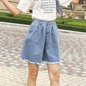 五分褲中大碼闊腿女夏季寬松學生2018新款韓版熱短褲 XW2731【潘小丫女鞋】