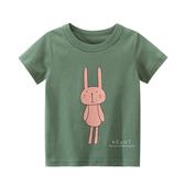 粉色小兔短袖T恤上衣 童裝 T-shirt T恤