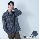 【OBIYUAN】長袖襯衫 寬鬆 落肩 格紋 襯衫外套 共1色【X69115】