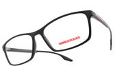 PRADA光學眼鏡 VPS04M 1BO-1O1 (霧黑) 配色LOGO款 眼鏡框 # 金橘眼鏡