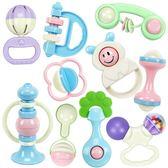 手搖鈴嬰兒玩具0-3-6-12個月寶寶男女孩4益智牙膠1歲新生兒幼兒全館免運 可大量批發